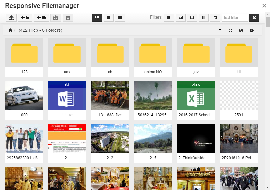 Responsive FileManager