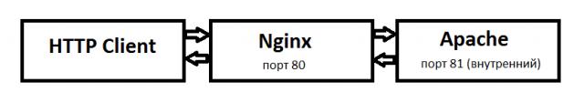 Схема работа Nginx reverse proxy